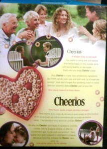 Back of my Cheerios box