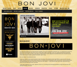Bon Jovi Homepage