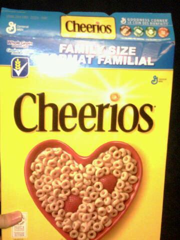 Cheerios box front