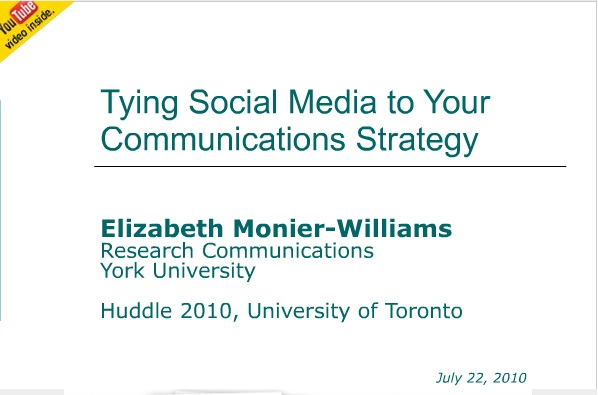 Tying Social Media to Your Communications Strategy title page