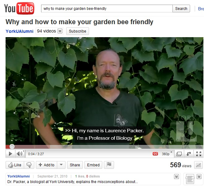 Youtube clip: Why and How to Make Your Garden Bee-Friendly