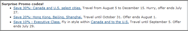 Current deals for travel including 30 per cent off destinations in Canada and the U.S.