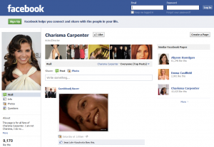 Charisma Carpenter on Facebook