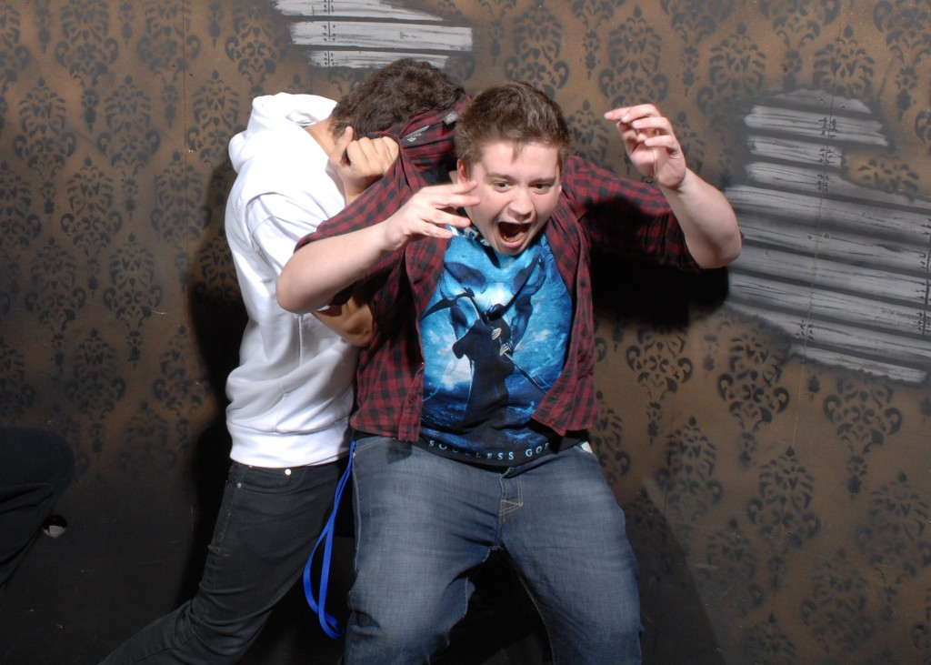 Terrified visitors to Nightmares Fear Factory