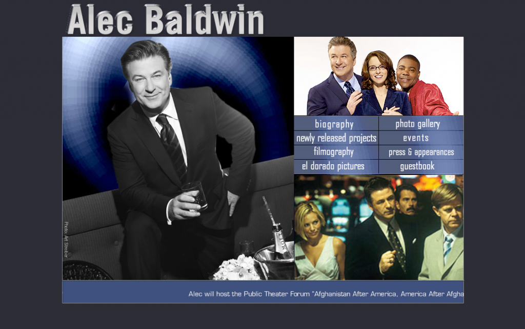 Alec Baldwin.com courtesy of The Way Back Time Machine