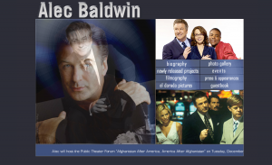 Transitioning photos on old version of Alec Baldwin.com