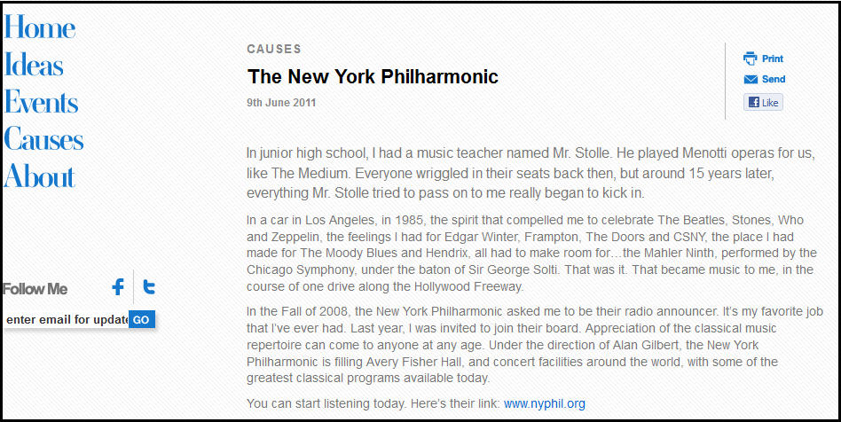 Why Alec Baldwin supports The New York Philharmonic