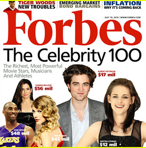 Forbes: The Celebrity 100 Special Issue Cover