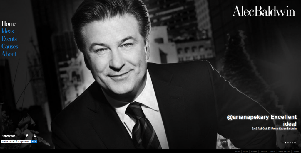 Alec Baldwin's Website