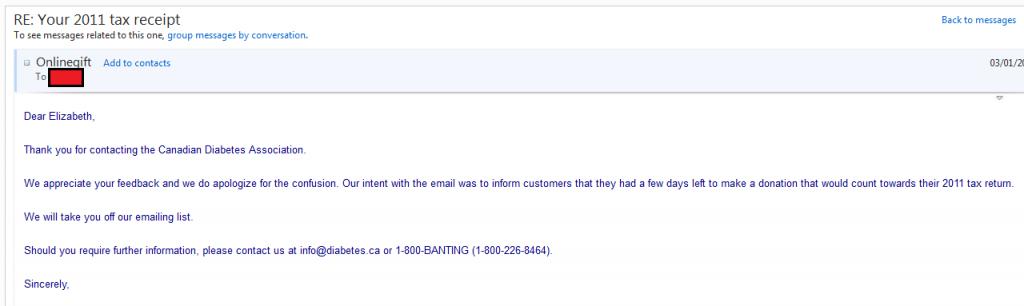CDA will stop sending me spam