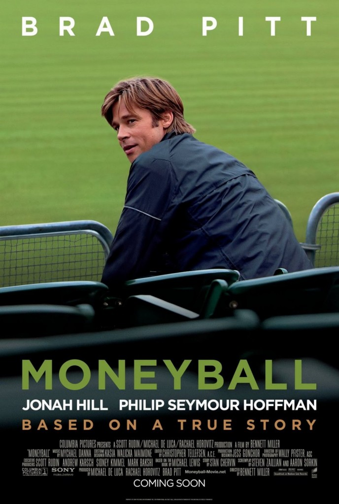 Moneyball Movie Poster featuring Brad Pitt as Billy Beane
