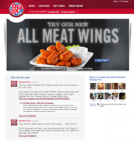 BP Main page Meat wings