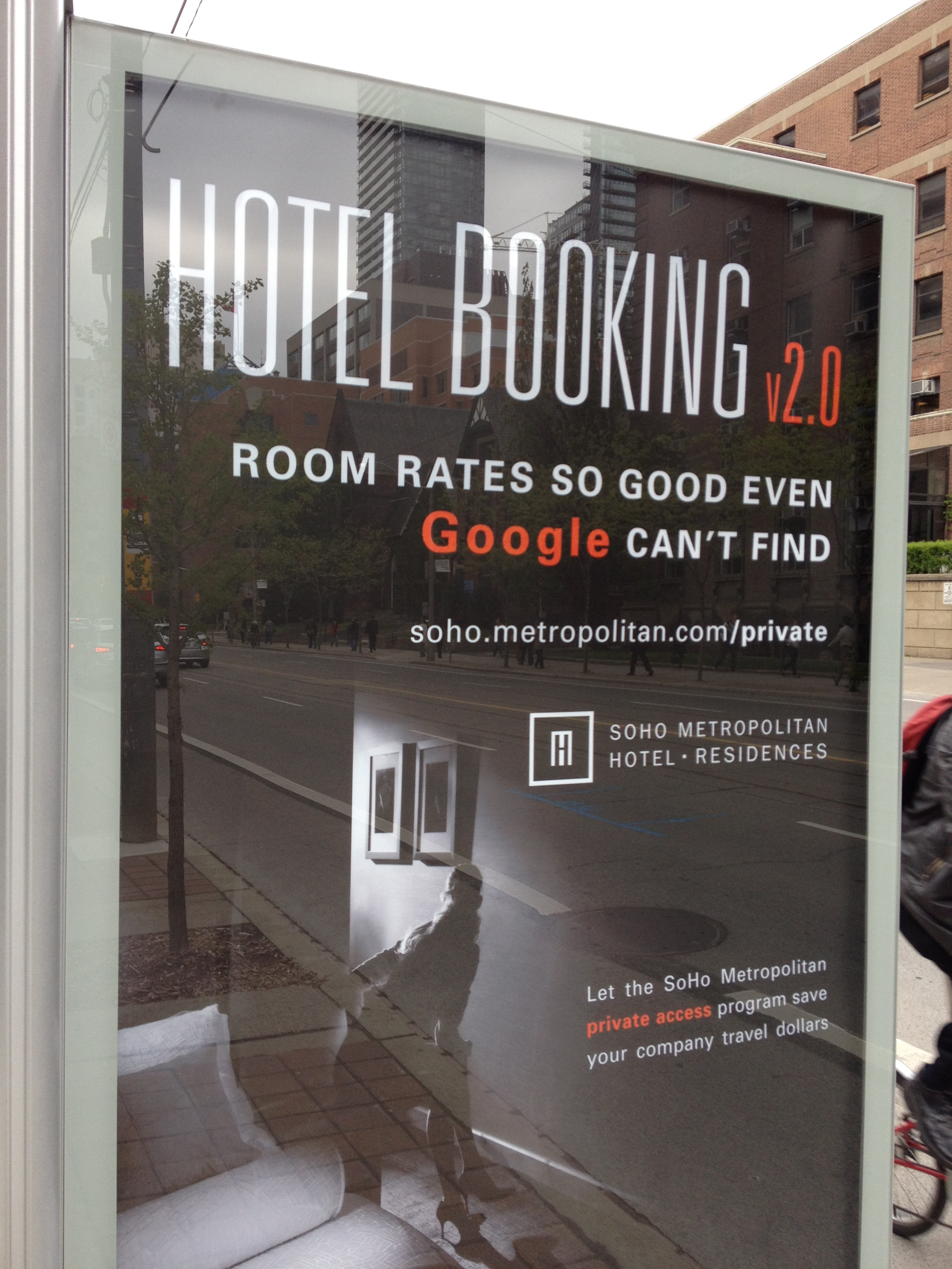 Hotel Booking 2.0 Bus Shelter Ad
