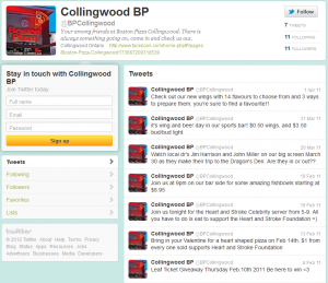 Tweet stream for BP Collingwood