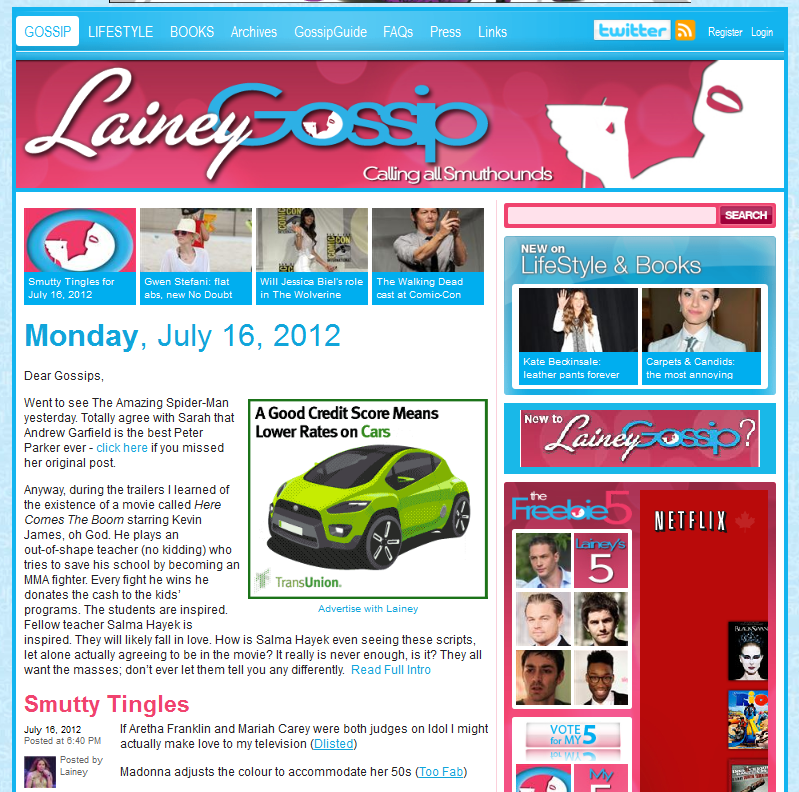 Main page for LaineyGossip