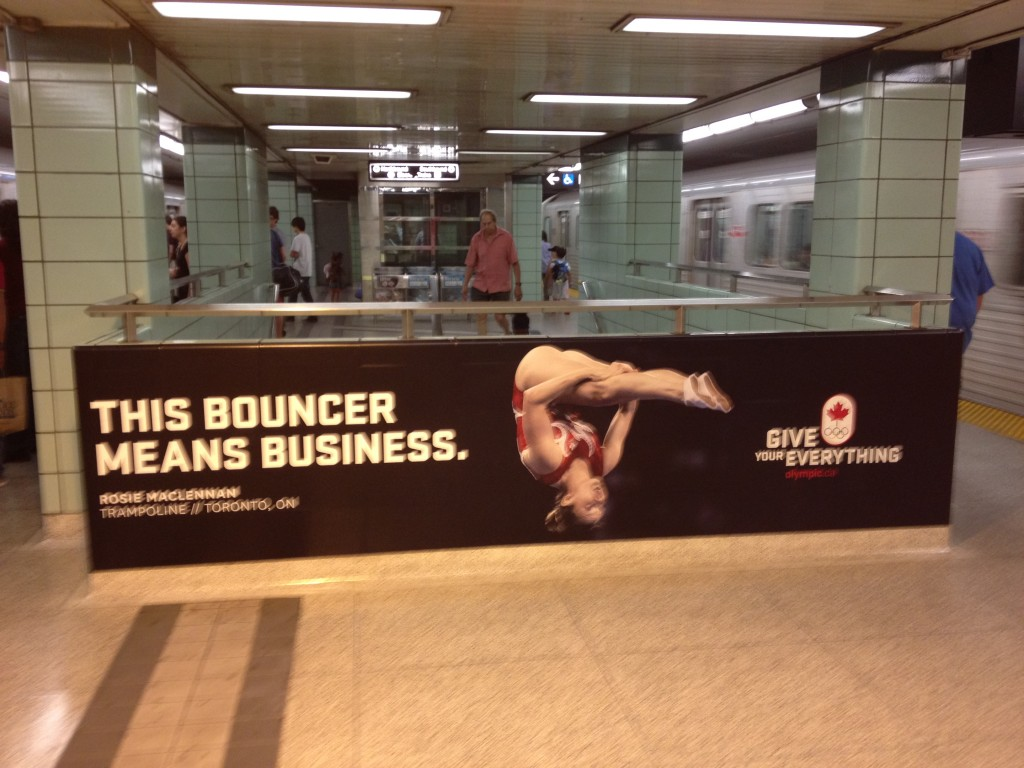 Canadian Olympic Ad Campaign, featuring gymnastics squad