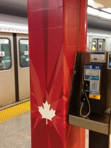 The Maple Leaf Wrap-Around Column Detail, TTC July 2012