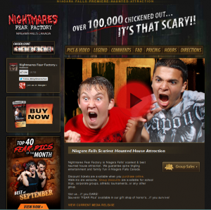 Nightmares Fear Factory new home page