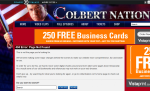 Colbert Nation 404 page