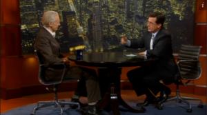 Julian Assange and Stephen Colbert on The Colbert Report