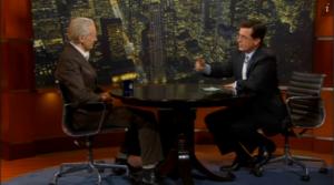 Julian Assange and Stephen Colbert on The Colbert Report