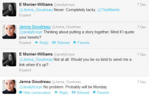 Response to Jenna Goudreau